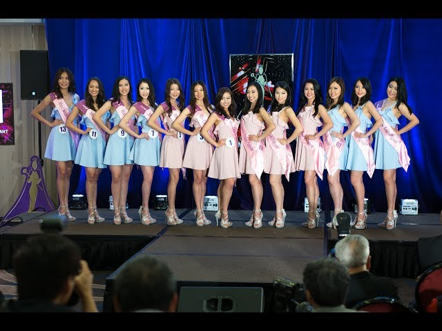 Finalists Press Conference - Top 13 - Miss Chinese Beauty Pageant 2017 -