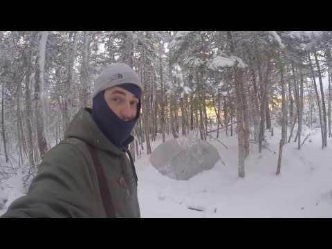 "NL Explorer: Winter ""BLIZZARD"" Camping in an MSR Hubba Hubba NX Tent"