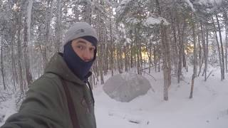 "NL Explorer: Winter ""BLIZZARD"" Camping in an MSR Hubba Hubba NX Tent"