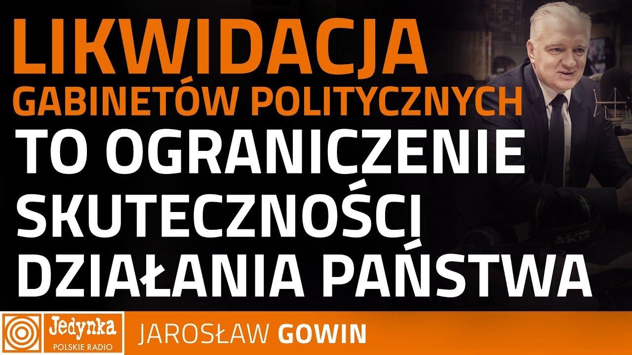 Jarosław Gowin: będę walczył o gabinety polityczne jak lew
