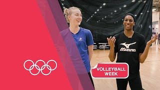 Volleyball Serving Challenge with USA Women