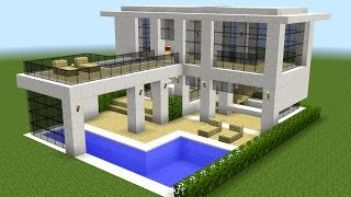 Minecraft - How to build a modern house 10