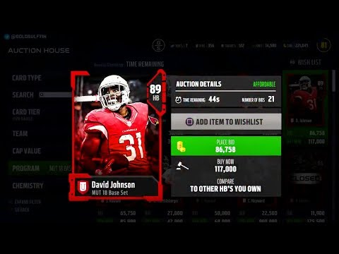 BEAUTIFUL MADDEN 18 AUCTION HOUSE CONCEPT!