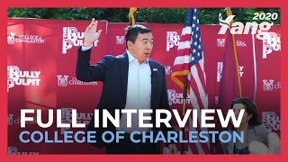 Andrew Yang speaks at the CofC Bully Pulpit Series