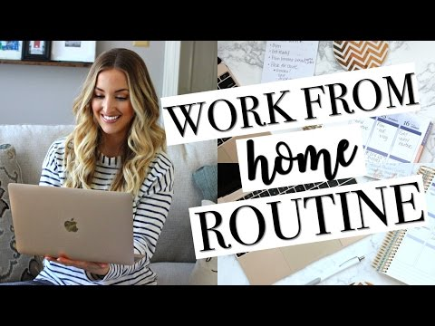 MY WORK FROM HOME ROUTINE | Day in the Life of a Youtuber