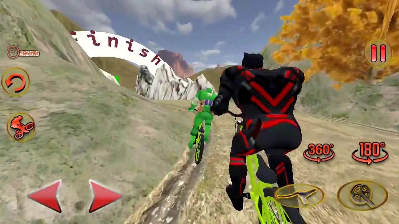 super hero bicycle finish game bicycle racing game super hero