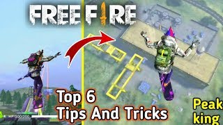Free Fire Top 6 Tips And Tricks  Become The Peak King 😎