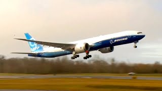 Watch Boeing 777X take off for the first time