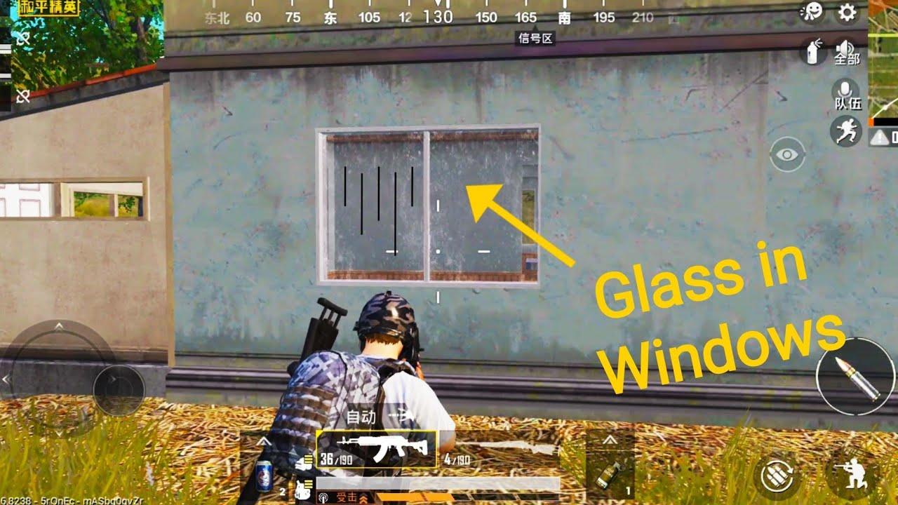 PUBG MOBILE New Update November 2019 , New GLASS in WINDOWS Gameplay !