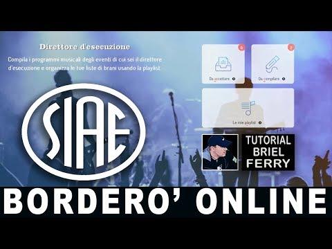 Siae Borderò Online