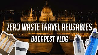 Awesome Cup, Bottle & Cutlery for Zero-Waste Travel | BUDAPEST VLOG | Stojo | LifeStraw Go