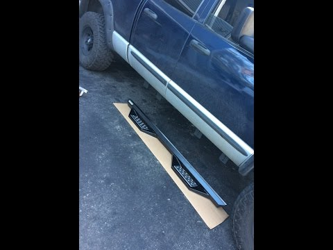 Putting side steps on the cummins.