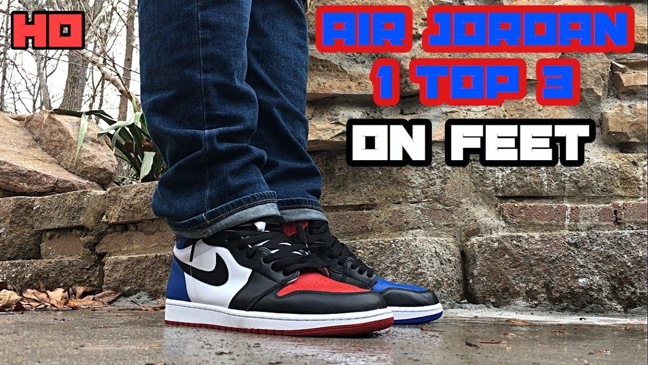 huge discount 7a475 b786f Air Jordan 1 Top 3 On Feet