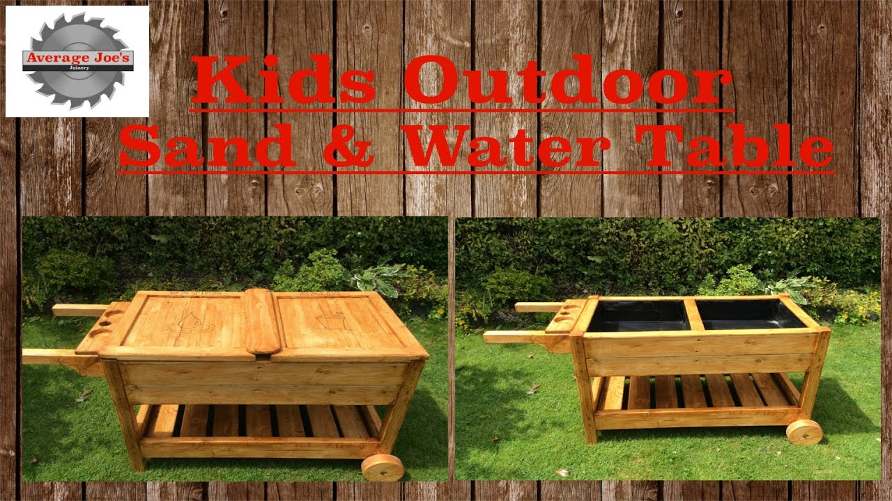 Kids Outdoor Sand & Water Table - YouTube