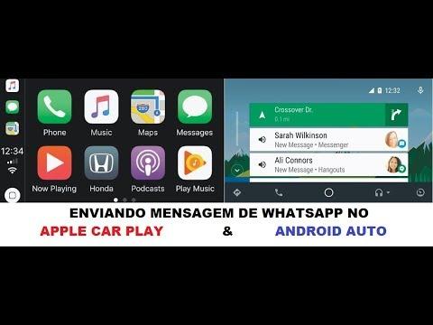 Apple Car Play e Android Auto - Enviando mensagens de WhatsApp