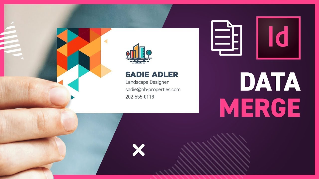 How to use DATA MERGE in InDesign CC 2019
