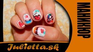 Маникюр. Дизайн ногтей цветными гелями. Color Gel. GDCOCO