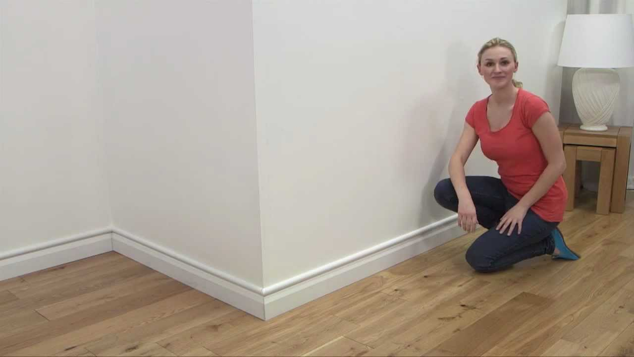 how to d line mini trunking above baseboards skirting smooth fit rh youtube com wiring behind skirting boards fitting flooring under skirting boards