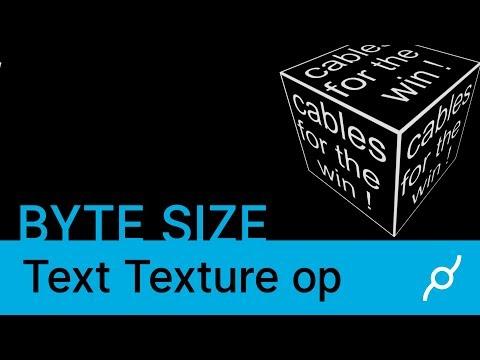 Text Texture op tutorial - Byte size