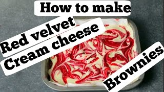 How to make Red velvet cream cheese brownies