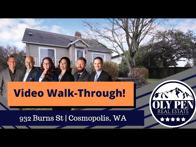932 Burns | Cosmopolis, WA | Video Walk-Through!