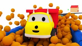 The Balloon Pool: learn colors with Ethan the Dump Truck | Educational cartoon for children