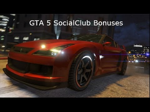 GTA 5 SocialClub Bonuses!
