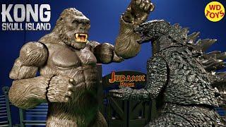 New King Kong Skull Island Mega Figure Vs Godzilla Jurassic Park  Unboxing