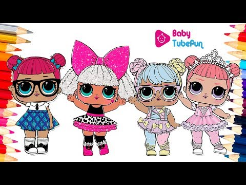 colouring lol surprise dolls colouring pages, teacher's pet, Diva, Bon Bon, center stage