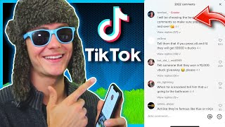 I Turned Your TIKTOK COMMENTS into a Video! - Fortnite Duos (Hilarious Reactions)