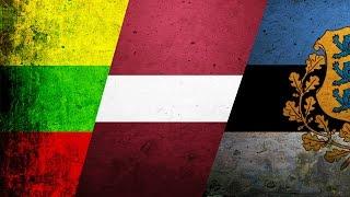 История флагов : Литва, Латвия и Эстония