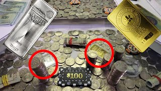 Gold \u0026 Silver Worth over $4000! Which do I Win?? High Risk Coin Pusher