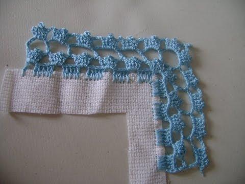 Puntilla crochet en ramilletes azules youtube - Hacer puntillas de ganchillo ...