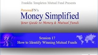 Lecture 17:How to Select Mutual Funds