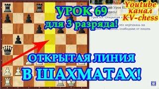 Открытая линия в шахматной партии - Урок 69 для 3 разряда.