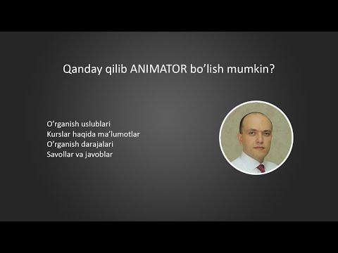 Qanday qilib Animator bo'lish mumkin?