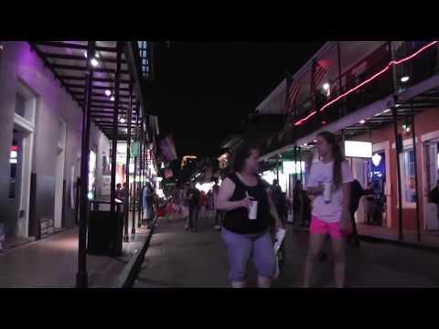 Walk along Bourbon Street  - New Orleans - June 2013