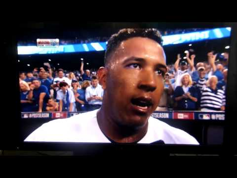 Salvador Perez interview on TBS after Oakland A