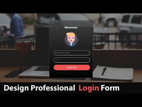 How To Design Professional Login Form Using HTML & CSS - Create Login Form In HTML And CSS