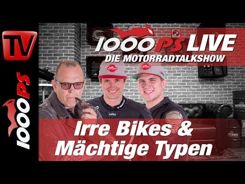 1000PS Live - Die Motorradtalkshow - Irre Bikes & Mächtige Typen