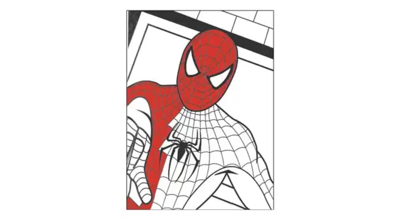 Hombre Araña O Spiderman Para Pintar: Como Dibujar Y Pintar A Spiderman