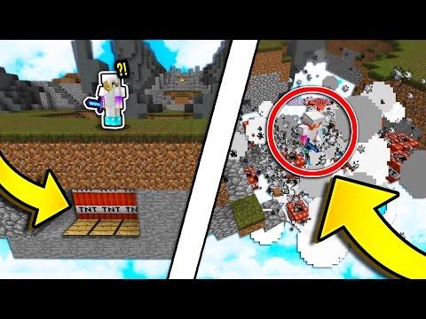 HIDDEN TNT TRAP! (Minecraft Skywars Trolling)