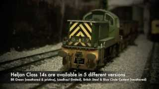 oorail.com | Heljan Class 14 D9535 in BR Green (Weathered) Review