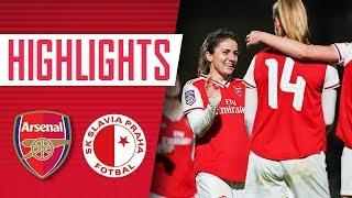 Arsenal Women 8-0 Slavia Prague | Champions League highlights