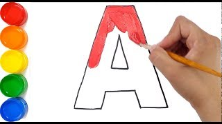 Learn Alphabet A to Z with Drawing & Coloring for Kids