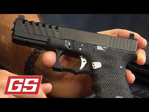 Glock 17 With Snakeskin Stipple Apex Slide Cut Youtube