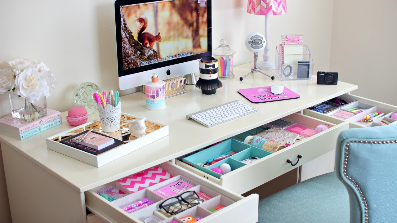 Desk organization ideas how to organize your desk youtube - Organize computer desk ...