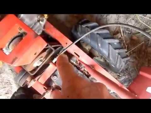 Yard Tiller blade engage cable broke, Quick Temporary Repair.
