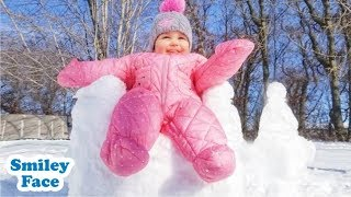 Babies Playing in the Snow First Time - Funny Baby Fails II