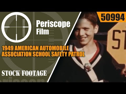1949 AMERICAN AUTOMOBILE ASSOCIATION SCHOOL SAFETY PATROL & CROSSING GUARD PROMOTIONAL FILM  50994
